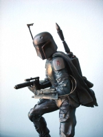 Star Wars, Boba Fett Bronze Statue (Left Side Close Up)-Randy Bowen Comic Art