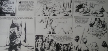 Jungle Jim Sunday 1-13-35 Comic Art