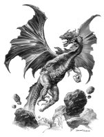 Dragon - Large Drawing - Boris Vallejo Comic Art