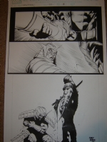 Tex/ Saltares Wolverine page Comic Art
