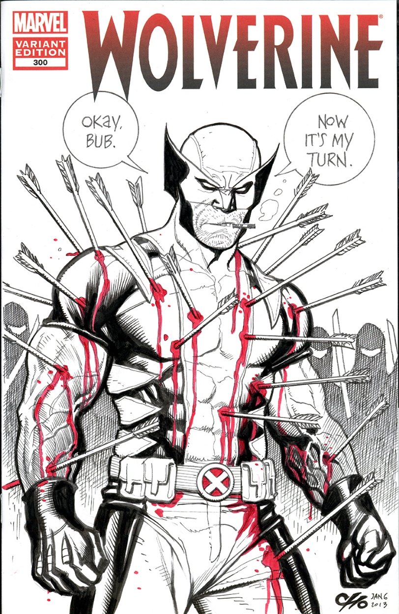 Frank Cho Raffle Art - Wolverine Sketch Cover  Comic Art