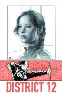 Katniss of District 12, Hunger Games, Comic Art