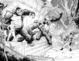 Wolverine Versus The Great Apes, Comic Art