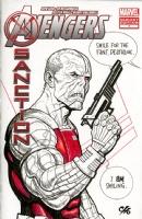 Deathlok Sketch Cover , Comic Art