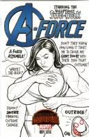 She-Hulk's Giant Boobs - Sketch Cover, Comic Art