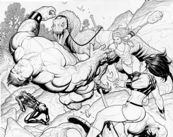 Lady Hellbender, Totally Awesome Hulk #1, Page 28-29, Comic Art