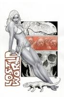 Jungle Girl #4 Cover - Ballpoint Pen Art Comic Art