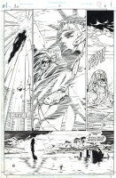 JLA #8 Page 4 Comic Art