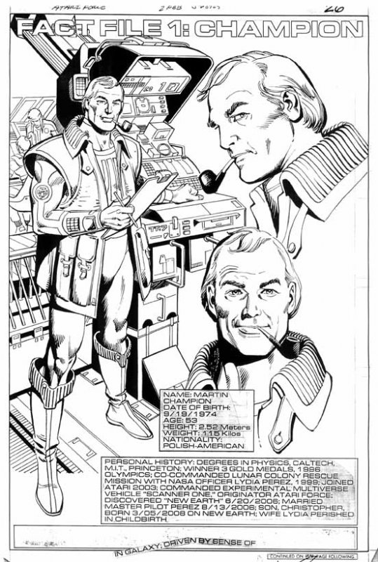 Atari Force #02. Fact File 1: Champion Comic Art