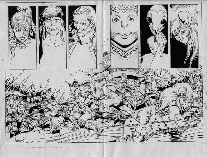 Atari Force Double Page ?? Comic Art