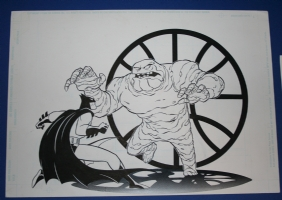 Batman and clayface style guide art Comic Art