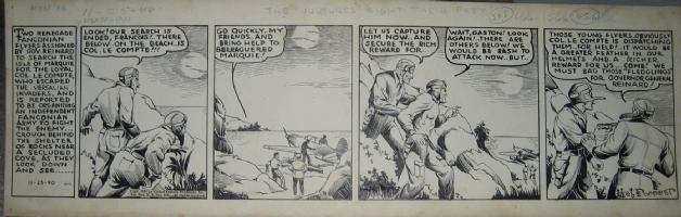 Tailspin Tommy 11/25/40 Comic Art