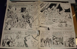 defenders # 113 page 2,3 Comic Art