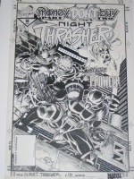 Night Thrasher #16 cover (1994) Comic Art