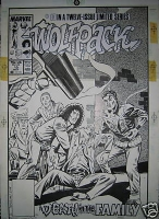 wolfpack # 10 cover Comic Art