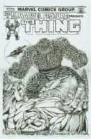the thing vs. the hulk recreation art Comic Art