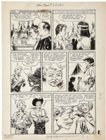 Part of the Fleagle Gang- EARLY GOLDEN AGE, AL WILLIAMSON/FRANK FRAZETTA John Wayne Adventure Comics #8, Toby Press, MAY 1, 1951 - Native American Indians EXQUISITE Brushwork by the MASTER! - LAST PAGE OF STORY! Comic Art