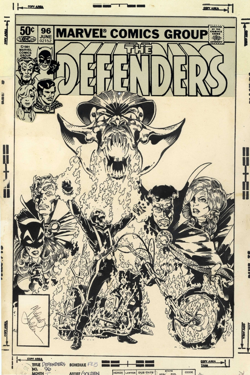 Defenders 96 cover by Michael Golden  Comic Art