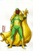 Vision by Tone Rodriguez and Moose Bauman  Comic Art