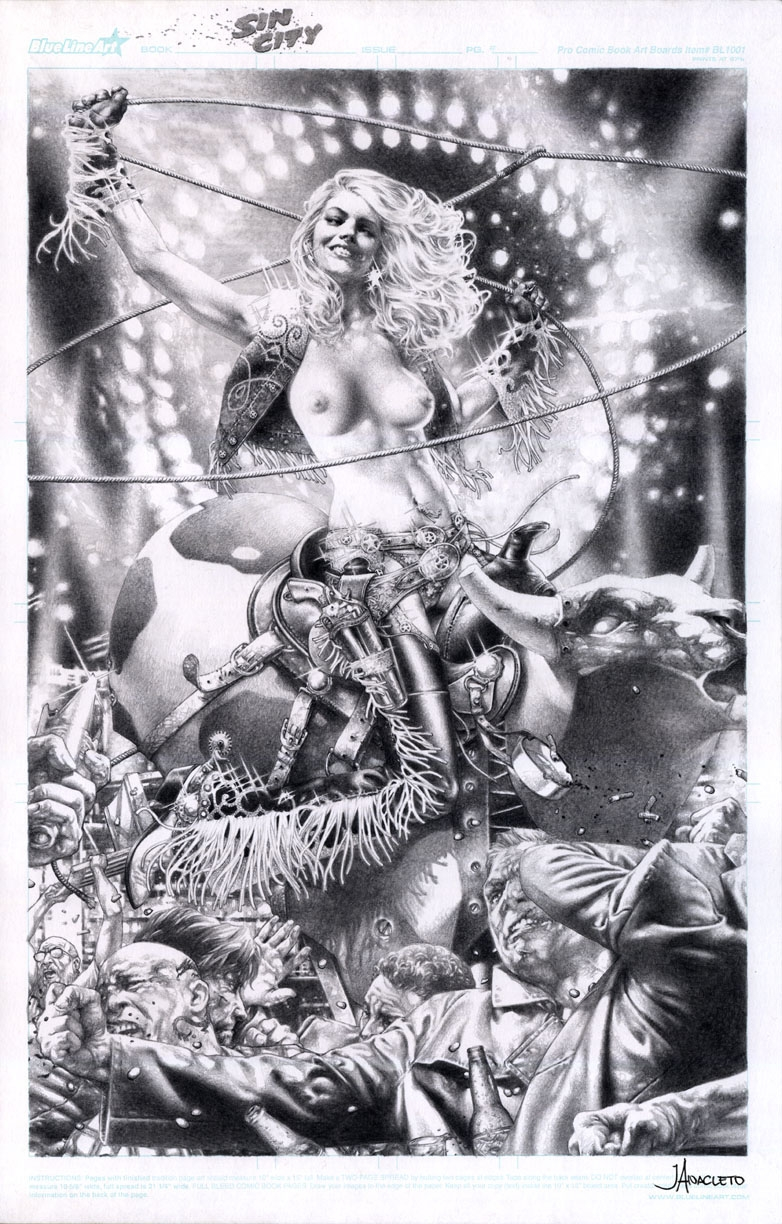 Nancy from Sin City by Jay Anacleto Pre-orders for ECCC 2013 Comic Art