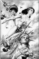 Jay Anacleto Wonder Women Pin Up  Comic Art