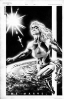 Jay Anacleto Ms Marvel Pin Up  Comic Art
