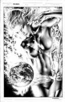 Phoenix Pin Up by Jay Anacleto  Comic Art