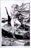 Powergirl by Jay Anacleto  Comic Art
