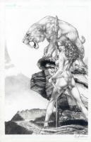 Cave Woman by Jay Anacleto  Comic Art