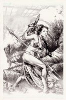 Slave Leia NYCC piece 1 by Jay Anacleto  Comic Art