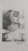 Scarlet Witch Sketch Cover  Jay Anacleto  Comic Art