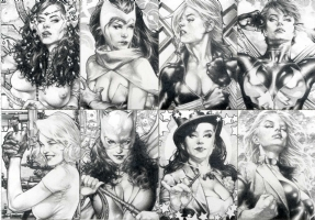Sketch Cards by Jay Anacleto  Comic Art