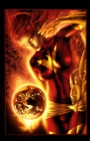 Jay Anacleto Print 'Dark Phoenix' colors by Andy Troy  Comic Art