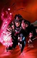 Philip Tan print of 'Gambit'' inks by Jason Paz and colored by Moose Bauman Comic Art