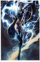 Philip Tan Print 'Storm' colored by Elmer Santos  Comic Art