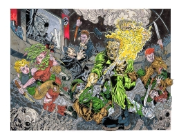 Suicide Squad & GI ROBOT battle The Creatures Commandos...One Minute Later Comic Art