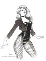 Dinah Ink Sketch Comic Art