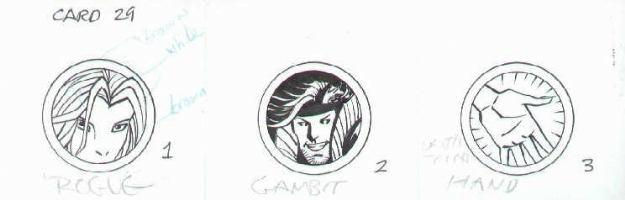 Marvel Legends Trading Card Artwork - Rogue & Gambit Comic Art