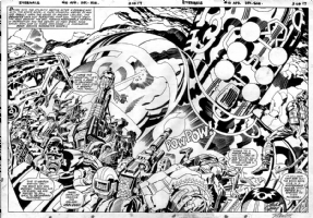The Eternals #10, pgs. 2 & 3 DPS ~ Jack Kirby Comic Art