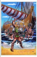 Viking Raid Party (1) by Gil Kane Comic Art