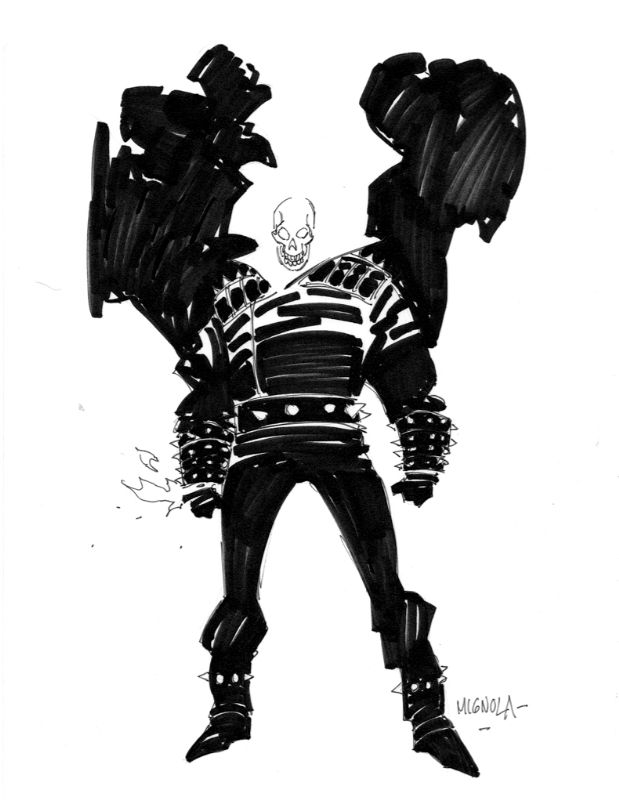 Ghost Rider by Mike Mignola Comic Art