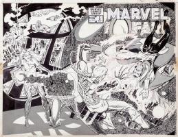 Marvel Fanfare #5 wraparound cover (Doctor Strange) ~ Marshall Rogers Comic Art