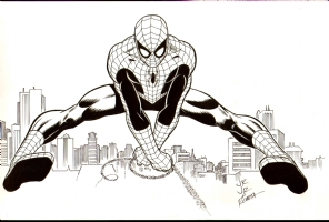 JOHN ROMITA JR AND JOHN ROMITA SR AMAZING SPIDERMAN  Comic Art
