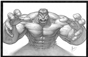 DALE KEOWN HULK RAGE - WIDESCREEN Comic Art
