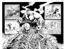 DALE KEOWN HULK THE END P22&23 DOUBLE PAGE SPLASH Comic Art