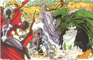 Spawn Jam: right half Comic Art
