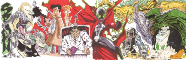 Spawn Jam Comic Art