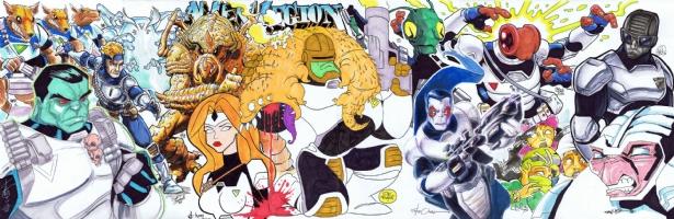 Alien Legion Jam Comic Art