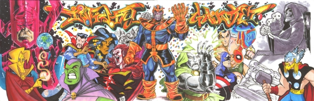 The Infinity Gauntlet Jam Comic Art