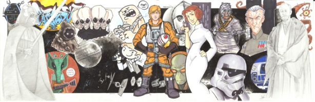 Star Wars Episode IV (A New Hope) Jam Comic Art
